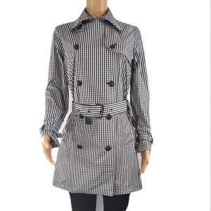*Ralph Lauren Black and White Plaid Trench Coat.